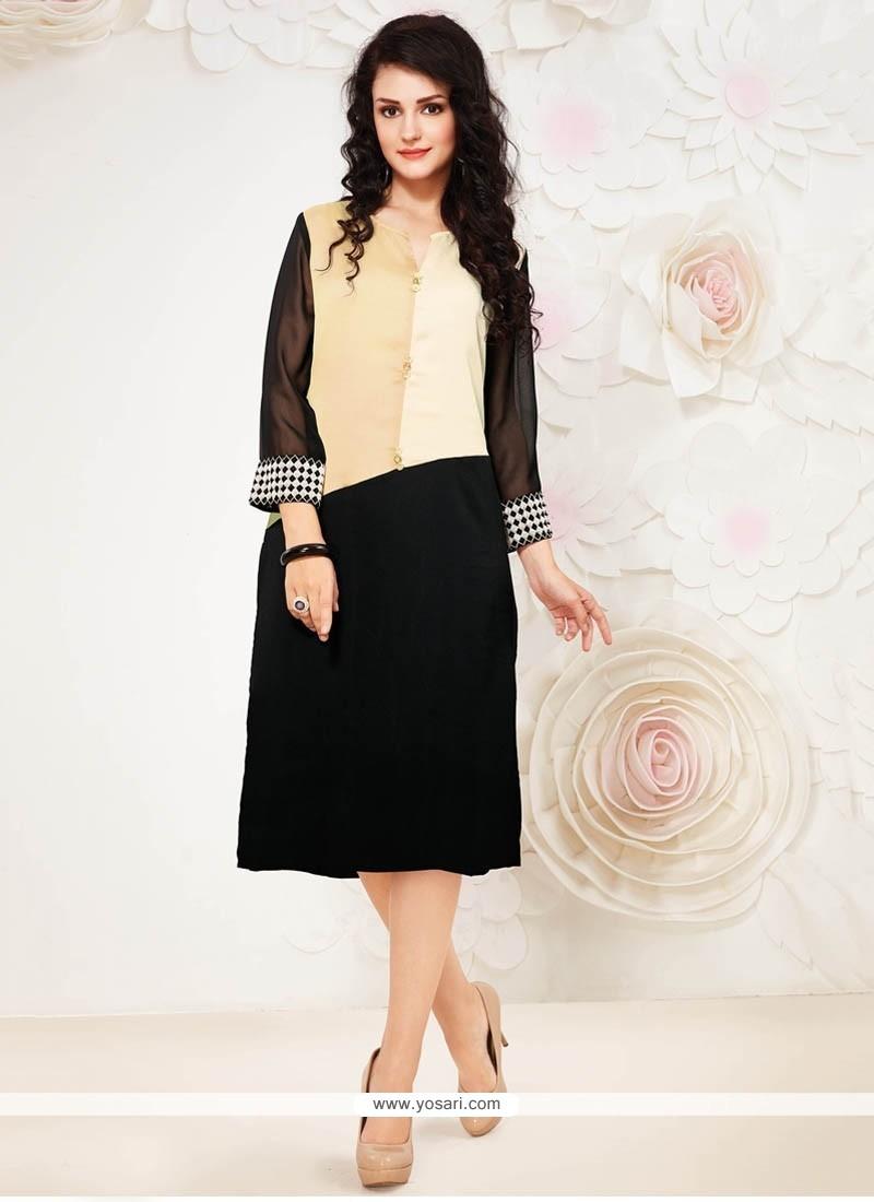 Simplistic Georgette Party Wear Kurti