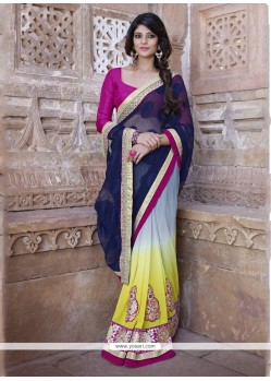 Specialised Georgette Embroidered Work Designer Saree