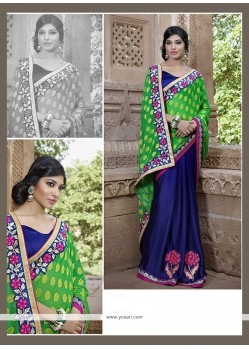 Deserving Georgette Embroidered Work Designer Saree