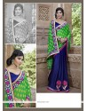 Deserving Georgette Embroidered Work Designer Saree