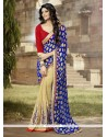 Hypnotic Embroidered Work Georgette Traditional Saree