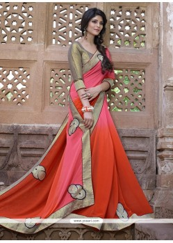 Glamorous Embroidered Work Designer Saree