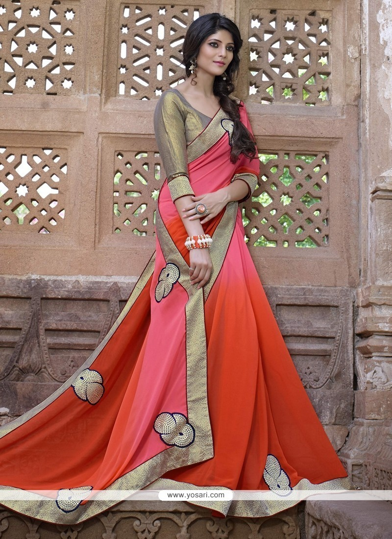 Glamorous Embroidered Work Designer Saree