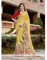 Ravishing Print Work Georgette Printed Saree