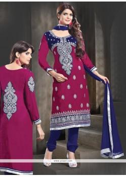 Pink Velvet Designer Salwar Suit