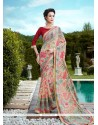 Distinguishable Patch Border Work Printed Saree