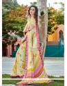 Phenomenal Multi Colour Patch Border Work Georgette Casual Saree