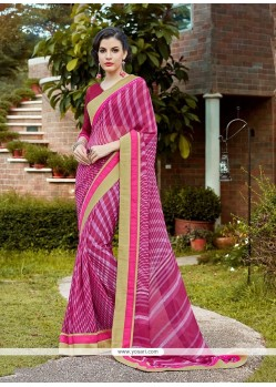 Delightful Georgette Patch Border Work Casual Saree