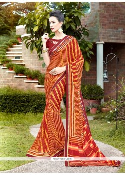 Sunshine Multi Colour Printed Saree