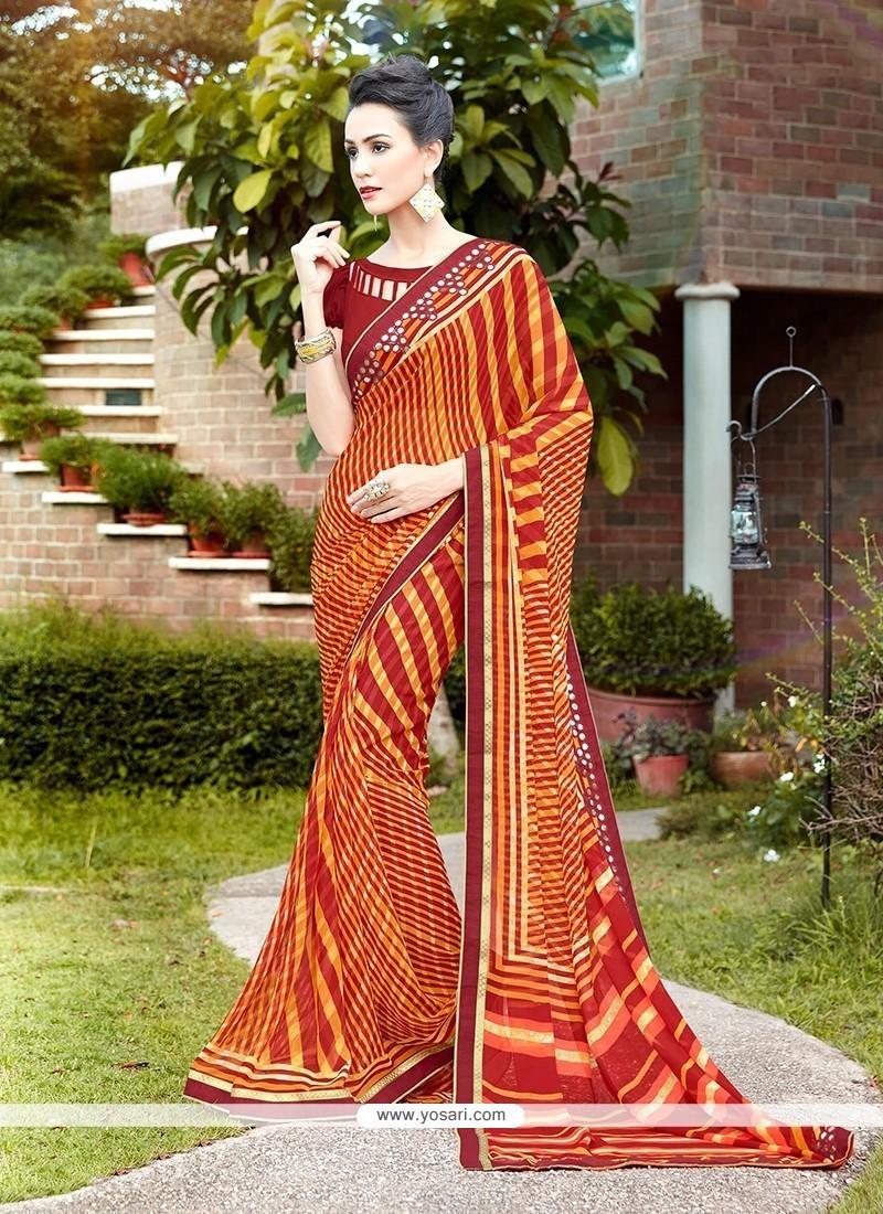 Sunshine Multi Colour Printed Saree