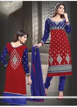 Fab Maroon Velvet Churidar Salwar Suit