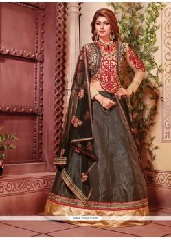 Fab Fancy Fabric Black Designer A Line Lehenga Choli
