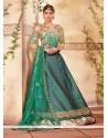 Royal Sea Green Fancy Fabric A Line Lehenga Choli