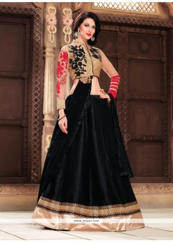 Intricate Patch Border Work Fancy Fabric A Line Lehenga Choli