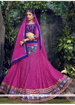 Competent Patch Border Work Net Designer A Line Lehenga Choli