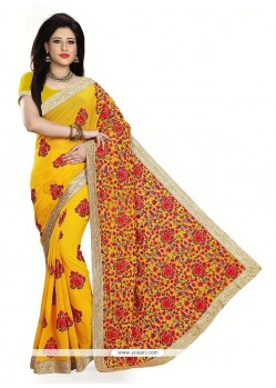 Picturesque Georgette Designer Saree