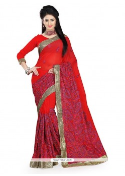 Prime Red Classic Saree