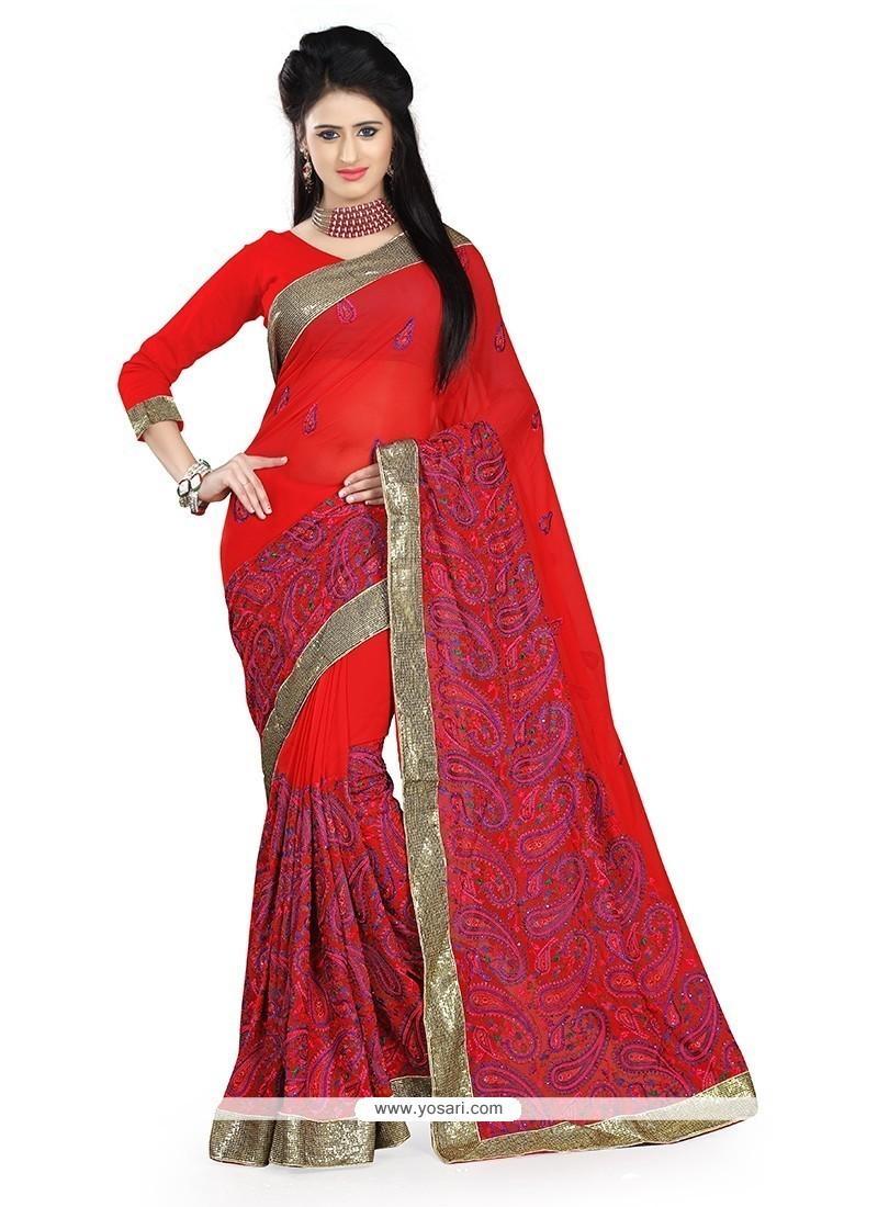 Prime Red Classic Saree