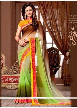 Glorious Embroidered Work Georgette Designer Saree