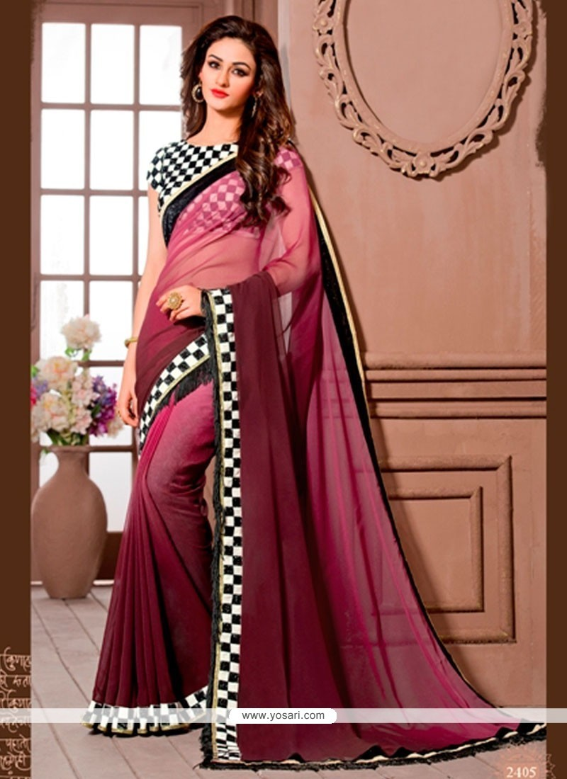 Perfect Georgette Designer Saree