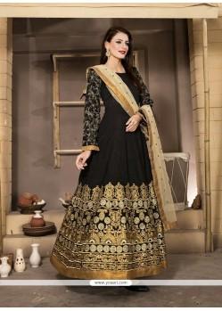 Sightly Resham Work Banglori Silk Anarkali Salwar Kameez