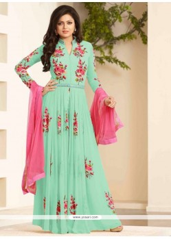 Sorcerous Embroidered Work Designer Floor Length Suit