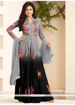 Demure Georgette Designer Floor Length Suit
