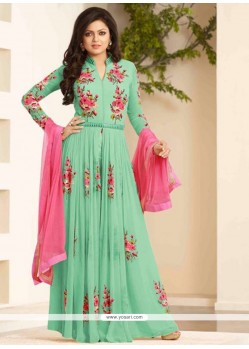 Modest Embroidered Work Designer Floor Length Suit