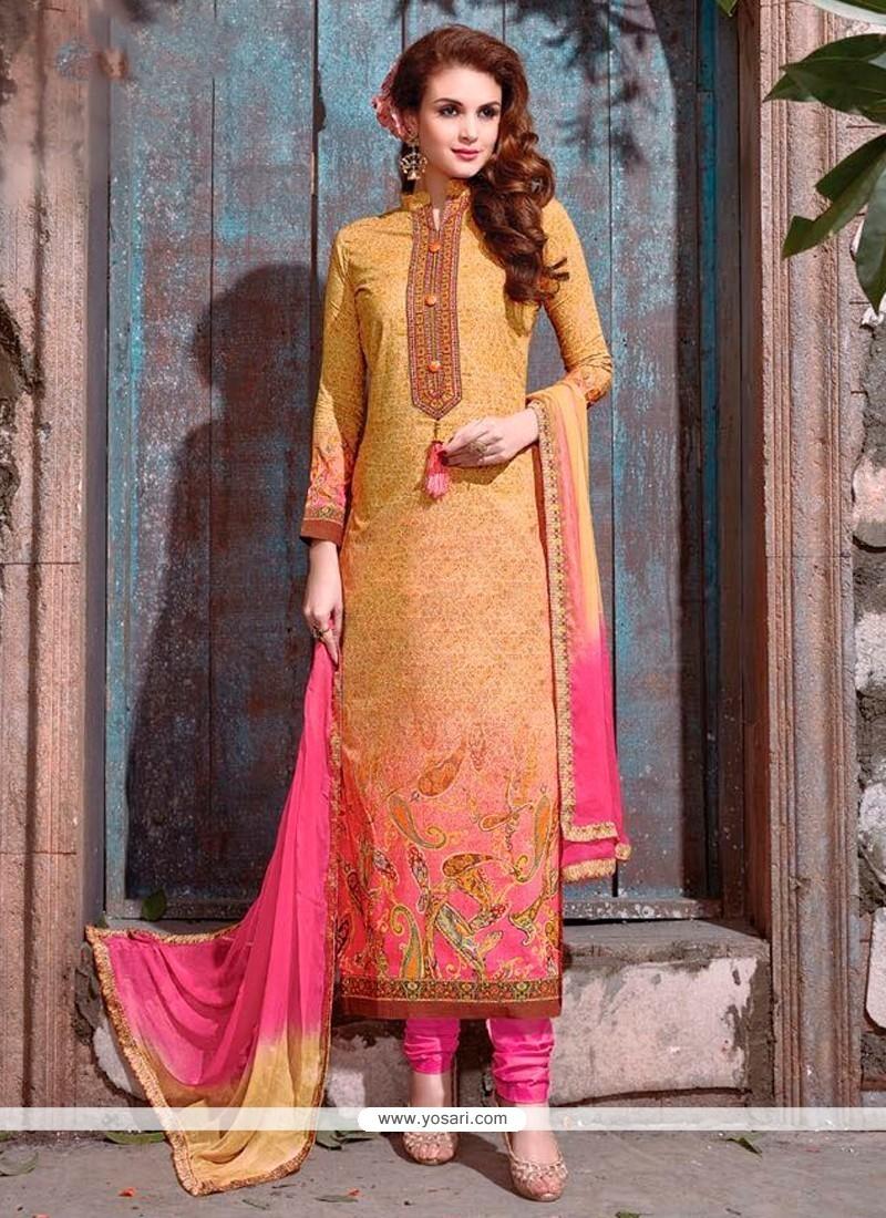 Congenial Resham Work Churidar Designer Suit