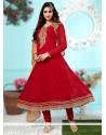 Maroon Georgette Designer Salwar Suit
