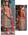 Affectionate Print Work Churidar Designer Suit