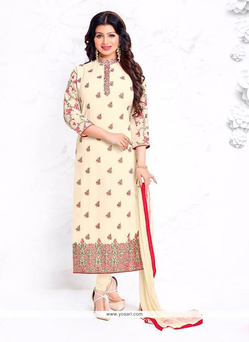 Ayesha Takia Cream Churidar Designer Suit