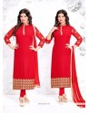 Ayesha Takia Red Churidar Designer Suit