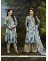 Imperial Cotton Satin Print Work Churidar Designer Suit