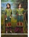 Vivid Print Work Multi Colour Designer Palazzo Salwar Kameez
