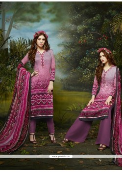 Invaluable Cotton Satin Multi Colour Embroidered Work Churidar Designer Suit
