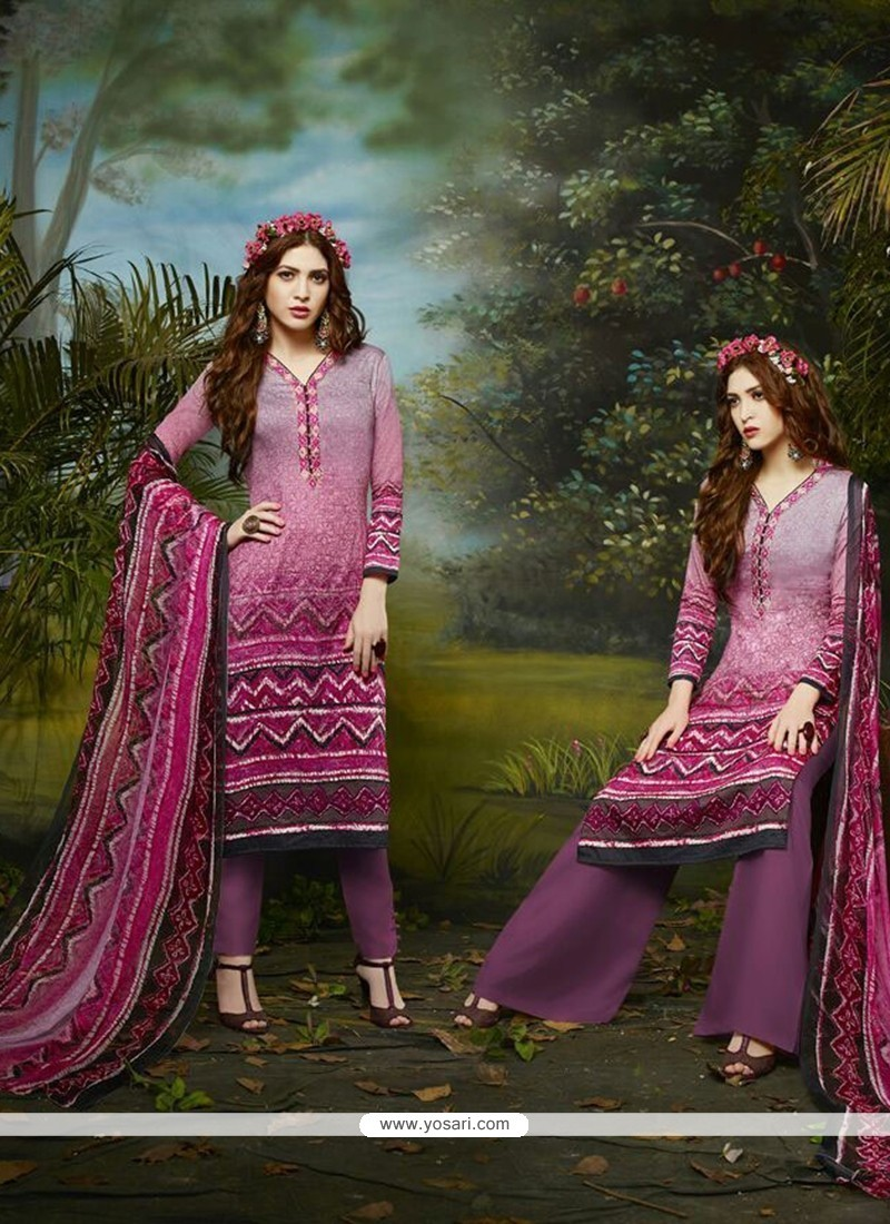 Invaluable Cotton Satin Multi Colour Embroidered Work Churidar Designer Suit
