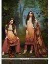 Adorning Multi Colour Print Work Designer Palazzo Salwar Kameez