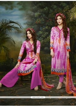 Imperial Multi Colour Cotton Satin Churidar Designer Suit