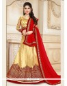 Jazzy Gold And Red A Line Lehenga Choli