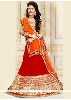 Fabulous Embroidered Work A Line Lehenga Choli