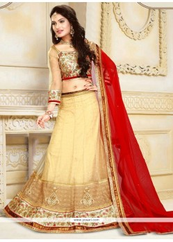 Masterly Net A Line Lehenga Choli