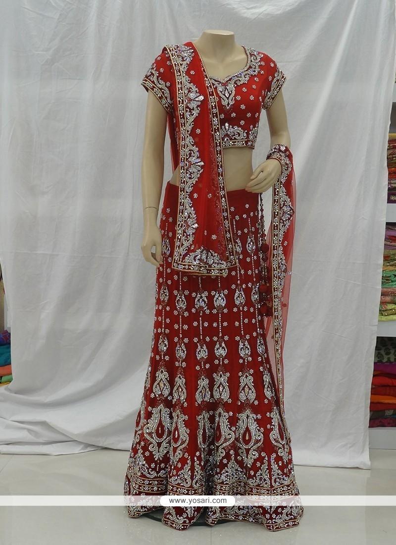 Affectionate Net Red Designer A Line Lehenga Choli