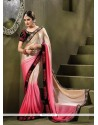 Blooming Embroidered Work Velvet Classic Saree