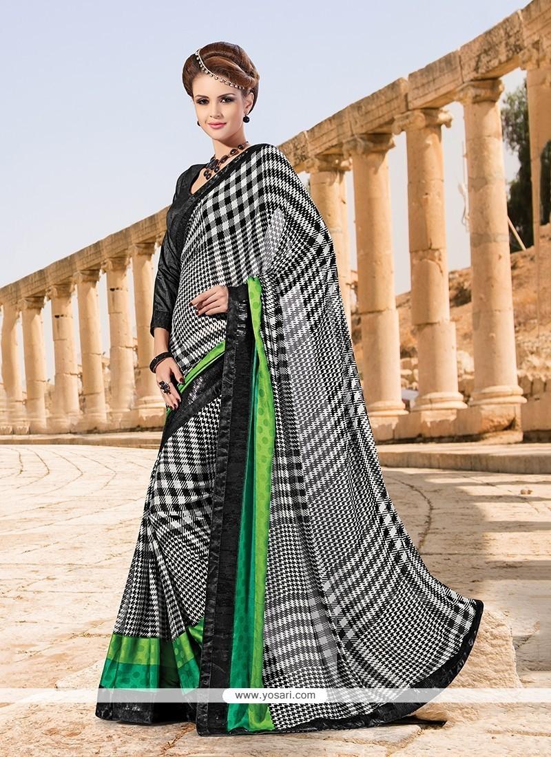 Majestic Georgette Printed Saree