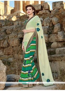 Versatile Green Printed Saree