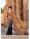Energetic Georgette Multi Colour Printed Saree