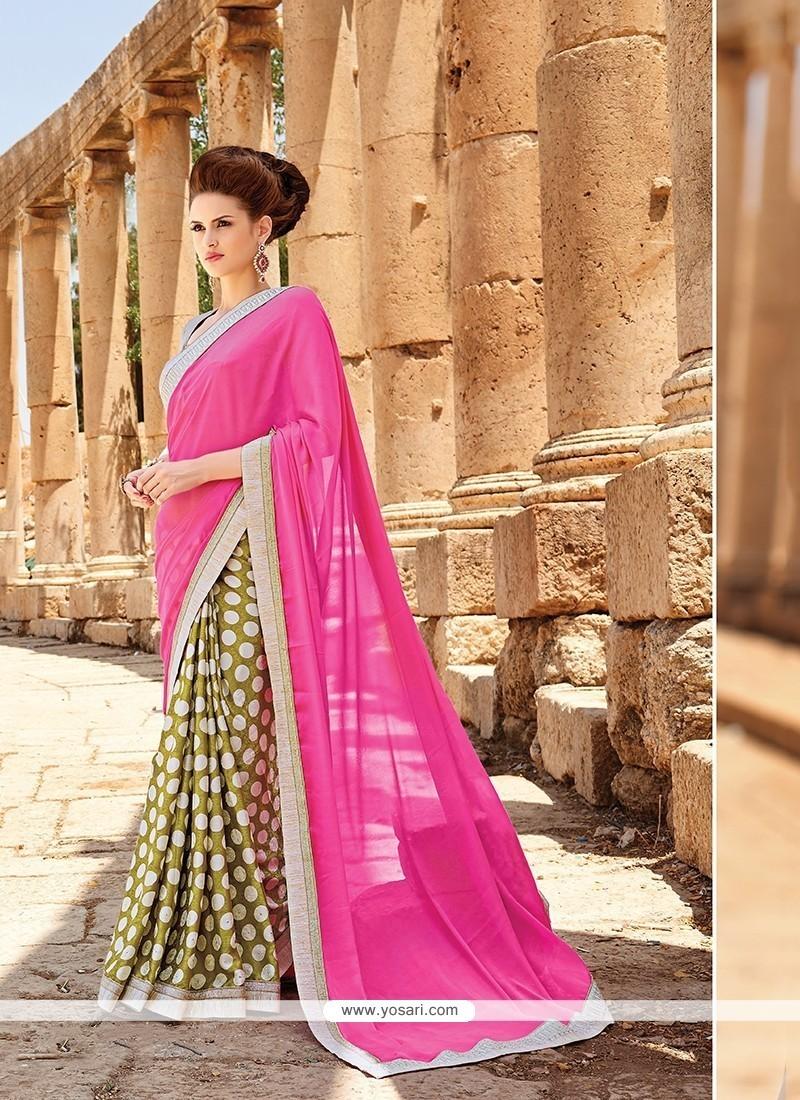 Elegant Jacquard Printed Saree