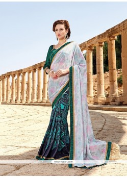 Modern Multi Colour Fancy Fabric Printed Saree