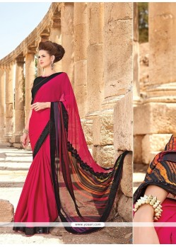 Innovative Black Digital Print Work Classic Saree